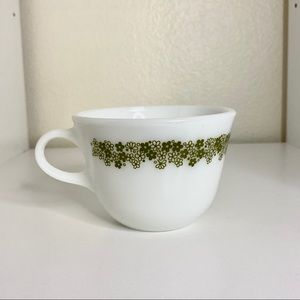 Pyrex Green Spring Daisy Blossom Flower Cup
